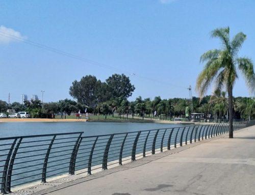 גדר סביב אגם, פארק מנחם בגין