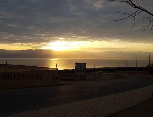 גדר עם נוף: קיבוץ עין גדי, צופה אל ים המלח