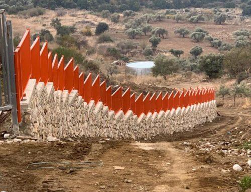 גדר פרופילים במדרון – נוף מהמם