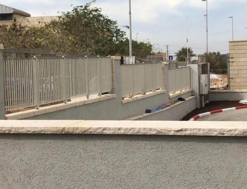 גדרות מעקות ושערים בשכונה חדשה בבאר שבע