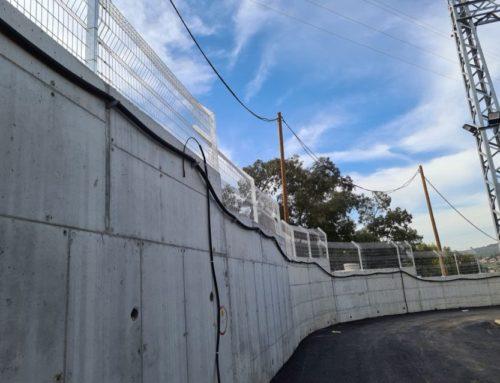גדר רשת פלדה מרותכת, שערים, לחברת המים מקורות בכיסלון