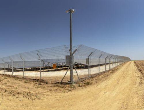 גדר הגנה היקפית, חווה סולארית